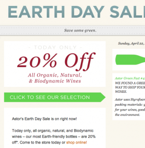 Earth Day Sale in NYC