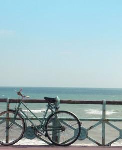 bike, sea, summer